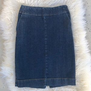 ANN TAYLOR Denim Pencil Skirt